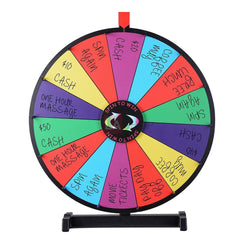 (UK) WinSpin 60cm Tabletop Prize Wheel Dry Erase Wheel 14 Section