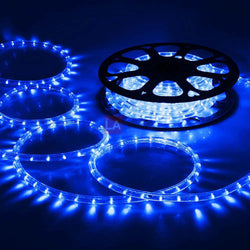 (UK) DELight 12m Blue LED Rope Light Waterproof Indoor Garden