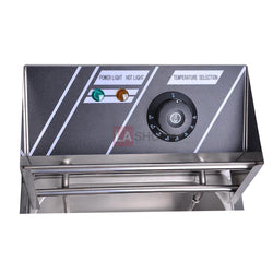 (UK)12L Countertop Electric Stainless Steel Dual Tank Deep Fryer
