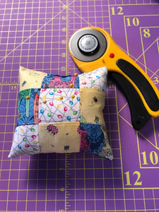 Sew a patch work pin cushion