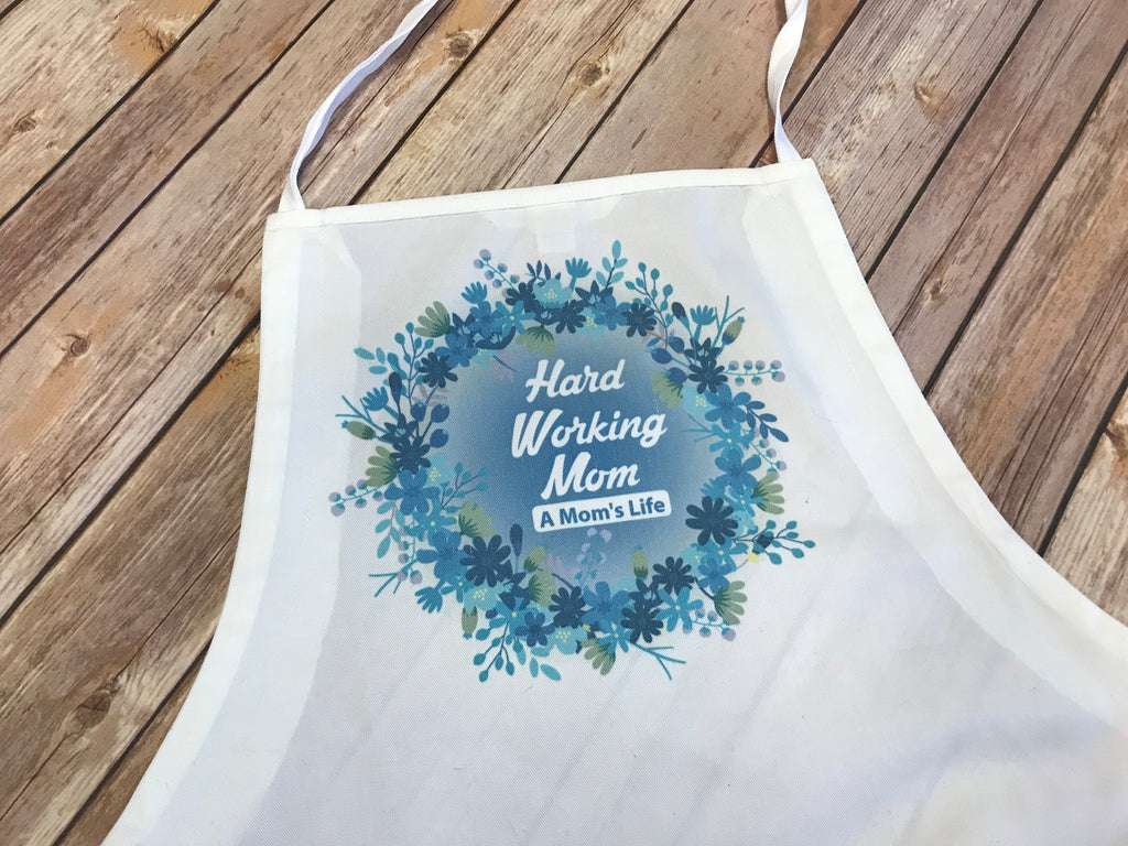 Print your logo on an apron with sublimation.