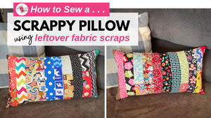 Sew a Pillow Using Fabric Scraps from Face Masks