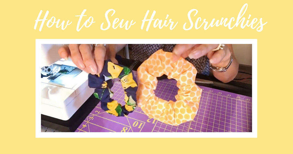 How to Sew Hair Scrunchies