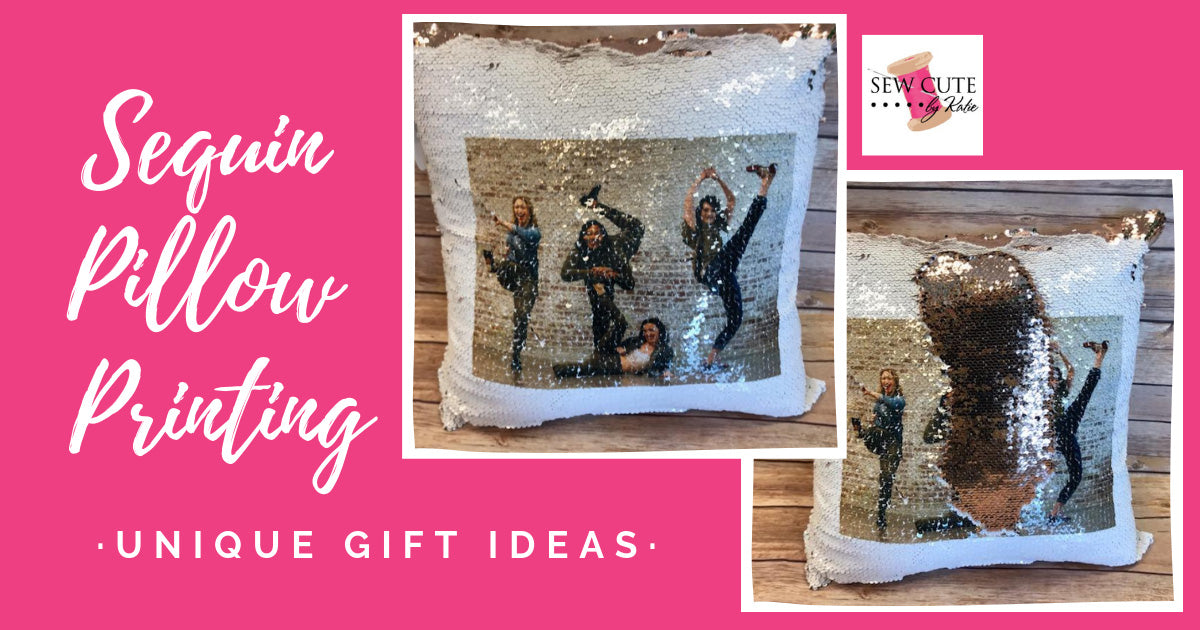 Sequin Pillow Printing with Sublimation
