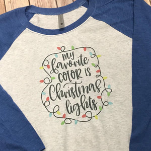 My Favorite Color is Christmas Lights Christmas Shirt - Sew Cute By Katie