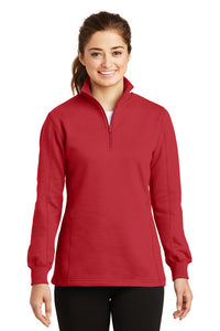 Monogrammed 1/4 zip red sweatshirt - Sew Cute By Katie