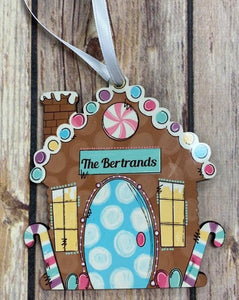 Gingerbread House Keepsake, Personalized Ornament