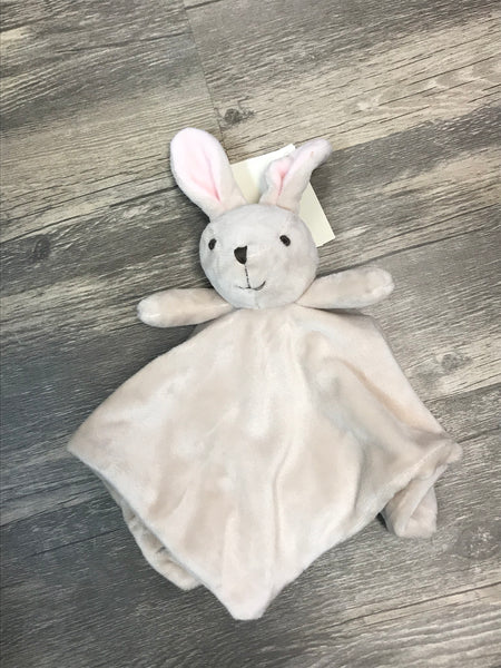Blanket Monogramed Bunny Security Blanket - light gray - Sew Cute By Katie