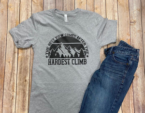 Inspirational Short Sleeve Tee - The Best View