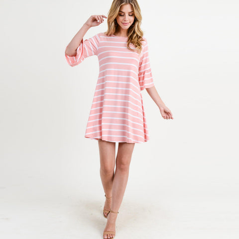Pink Ruffle Sleeve Dress - Sew Cute By Katie