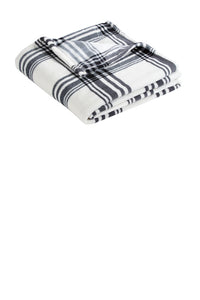 Plush Throw Blanket - Black and white plaid - Sew Cute By Katie