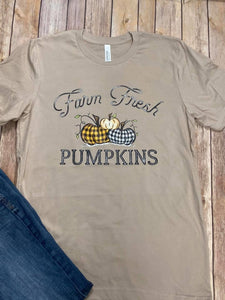 Farm Fresh Pumpkins Tan T-shirt