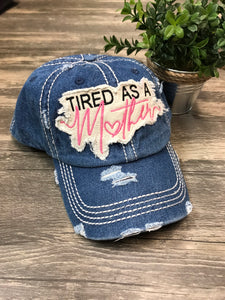Tired as a Mother Washed Vintage Ball Cap - Denim - Sew Cute By Katie