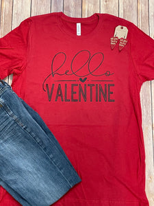 Hello Valentine Short Sleeve Tee