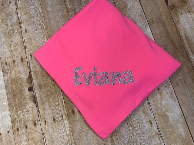 Sweatshirt Blanket - Vinyl personalization - Sew Cute By Katie