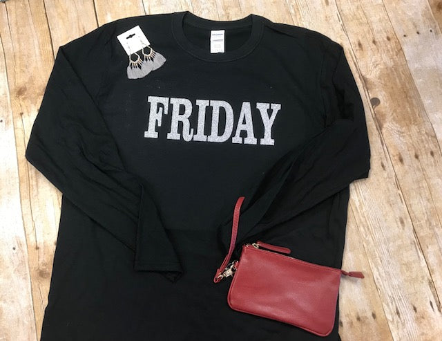 Black Friday t-shirt - sliver glitter