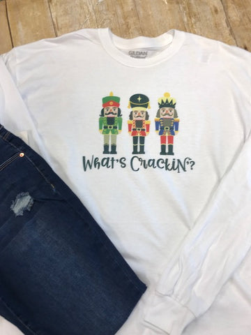 What's Crackin Nutcracker Holiday T-shirt - Sew Cute By Katie