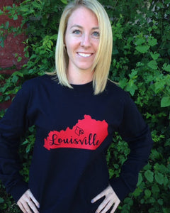 Louisville Kentucky State T-shirt - Sew Cute By Katie