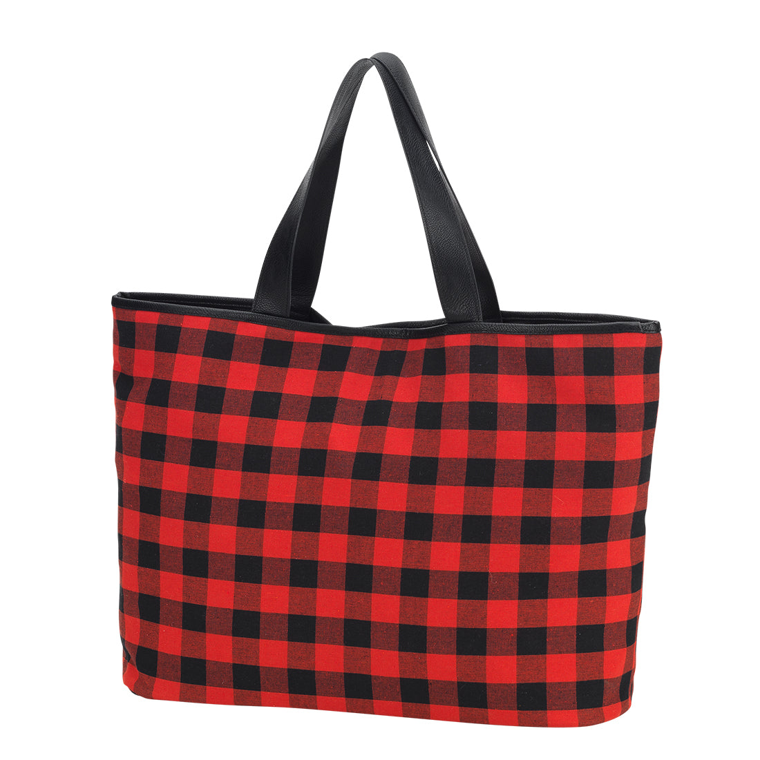 Buffalo Plaid Tote