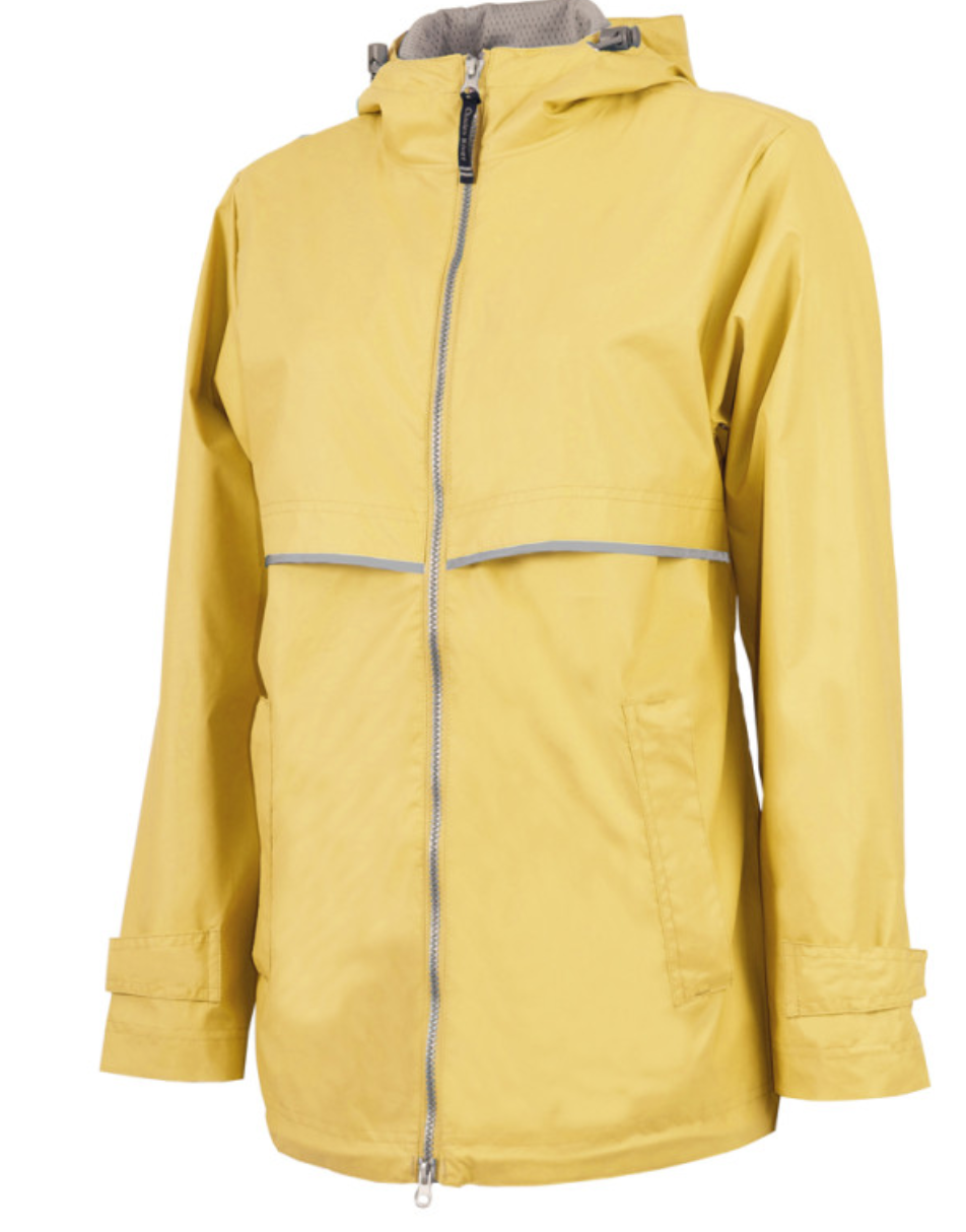 Raincoat Rain Jacket with Monogram - Yellow - Sew Cute By Katie