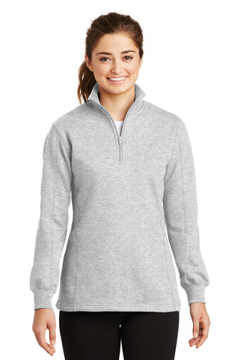 Monogrammed 1/4 zip light gray sweatshirt