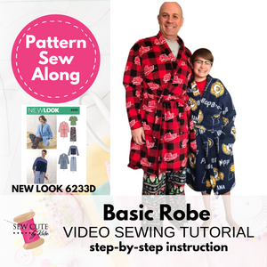 Bathrobe Sew Along Video - New Look Pattern 6233