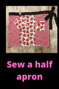 Half Apron Sewing Video - Sew Cute By Katie