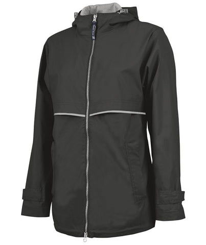 Raincoat Rain Jacket with Monogram - Black