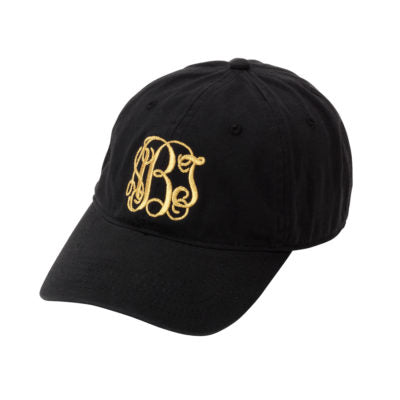 Monogram Baseball Hat - Black