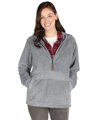 Monogrammed Newport Fleece - gray - Sew Cute By Katie