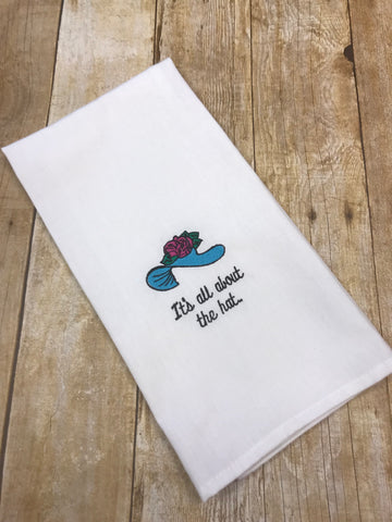 Derby Hand Towel - It's all about the hat - Sew Cute By Katie