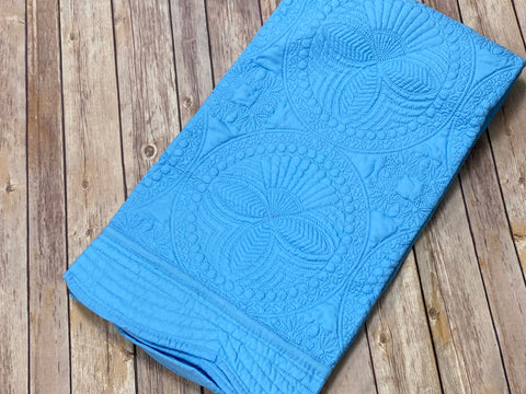 Baby Blanket Quilted - medium blue