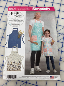 Apron  - Beginner Sewing Class via Zoom Meeting July 16th 6pm - Sew Cute By Katie