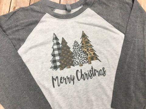 Merry Christmas Patterned Christmas Trees - Sew Cute By Katie