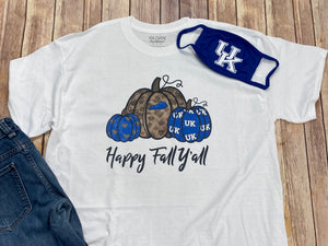 Kentucky Happy Fall Y'all short sleeve tee