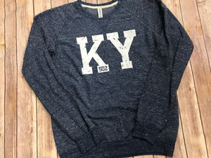 KY 502 French Terry Sweatshirt - Navy - Sew Cute By Katie