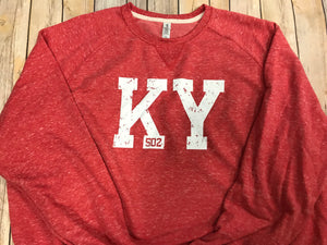 KY 502 French Terry Sweatshirt - Red - Sew Cute By Katie