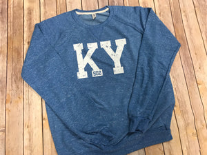 KY 502 French Terry Sweatshirt - Blue - Sew Cute By Katie