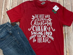 Best Way to Spread Christmas Cheer red Short Sleeve Tee