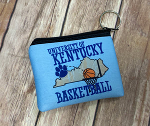 Zip pouch key fob - Kentucky Basketball
