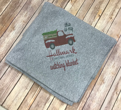 Christmas Movie Watching Sweatshirt Blanket