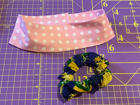 Scrunchie and Fabric Headband  Class -online - Sew Cute By Katie