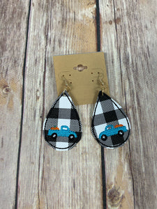 Pumpkin truck Earrings