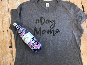 Dog Mom gray short sleeve t-shirt