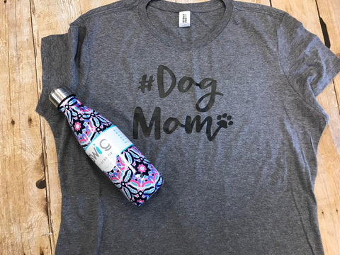 Dog Mom gray short sleeve t-shirt - Sew Cute By Katie