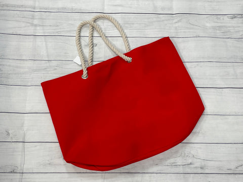 Rope Tote- Red