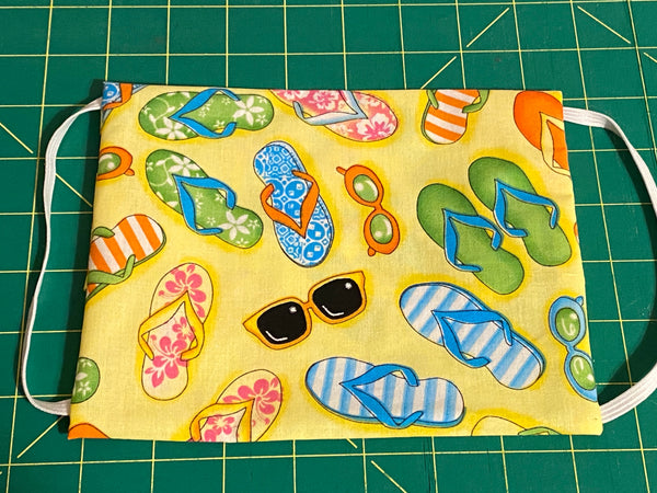 Flip Flop patternNon Medical  Face Mask - Sew Cute By Katie