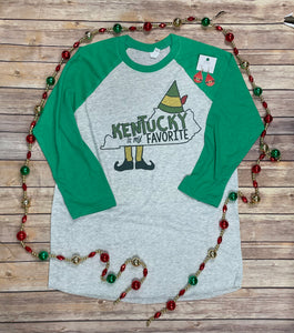 Kentucky is my Favorite Elf theme Christmas Shirt
