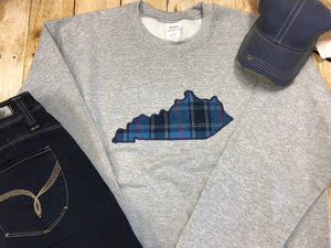 State of KY Applique Sweatshirt - Gray - Sew Cute By Katie