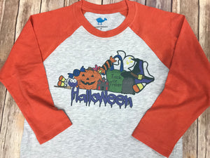 Halloween Kentucky Raglan T-shirt - Sew Cute By Katie
